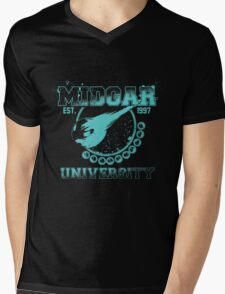 Midgar University Mens V-Neck T-Shirt