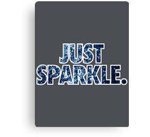 JUST SPARKLE. - Blue Canvas Print