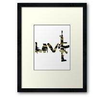 Love weapons - version 4 - camouflage Framed Print