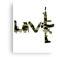 Love weapons - version 4 - camouflage Canvas Print