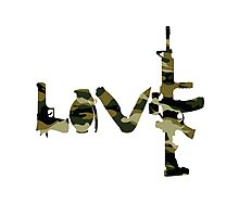 Love weapons - version 4 - camouflage Photographic Print