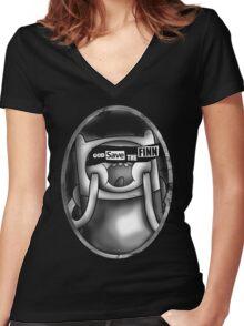 God Save the Finn Women's Fitted V-Neck T-Shirt