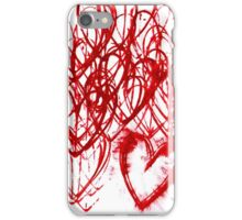 repetitive heart iPhone Case/Skin