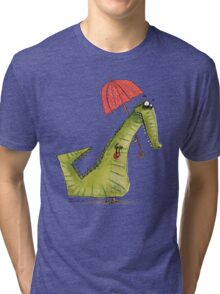 Crocodile fashion Tri-blend T-Shirt
