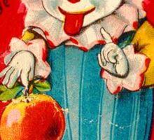Vintage Valentine evil clown Sticker