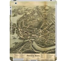 Aerial Map City of Norwich Connecticut (1876) iPad Case/Skin