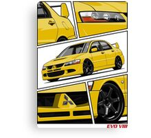 Mitsubishi Lancer Evolution VIII (Yellow) Canvas Print