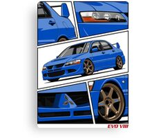 Mitsubishi Lancer Evolution VIII (blue) Canvas Print