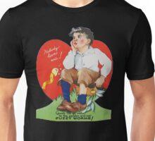 Vintage Valentine Fuzzy Worms Unisex T-Shirt