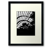 AA937 Silhouetted Glasshouse. Framed Print