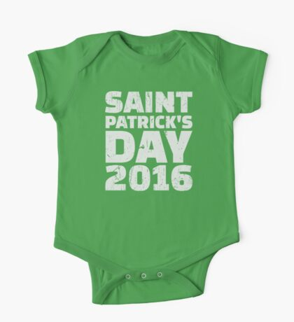 St. Patrick's day 2016 One Piece - Short Sleeve