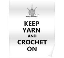 Keep Yarn Crochet On Poster