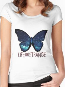 Life is Strange Galaxy Butterfly Women's Fitted Scoop T-Shirt