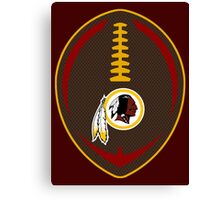 Redskins Vector Football  Canvas Print