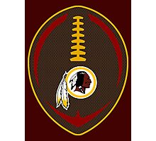 Redskins Vector Football  Photographic Print