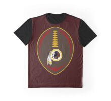 Redskins Vector Football  Graphic T-Shirt