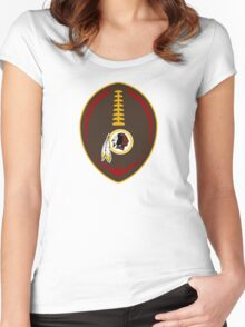Redskins Vector Football  Women's Fitted Scoop T-Shirt