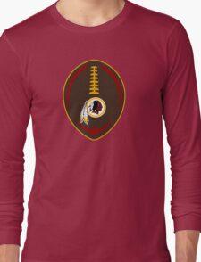 Redskins Vector Football  Long Sleeve T-Shirt