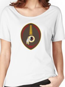 Redskins Vector Football  Women's Relaxed Fit T-Shirt