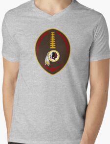 Redskins Vector Football  Mens V-Neck T-Shirt
