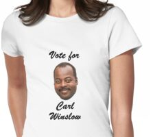 Vote for Carl Winslow 1 Womens Fitted T-Shirt