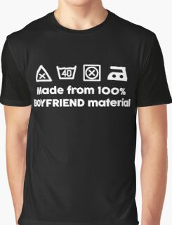 100% BOYFRIEND MATERIAL Graphic T-Shirt