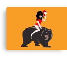 A girl and her MURDER BEAR! Canvas Print