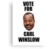 Vote for Carl Winslow 2 Canvas Print