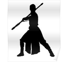 Rey Silhouette Poster