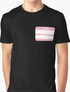 Hello, My PRONOUNS Are (Transfemale Pink) Graphic T-Shirt