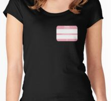 Hello, My PRONOUNS Are (Transfemale Pink) Women's Fitted Scoop T-Shirt