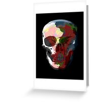 V Twin Skull red Greeting Card