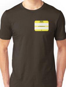 Hello, My PRONOUNS Are (Nonbinary Yellow) Unisex T-Shirt