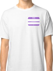 Hello, My PRONOUNS Are (Nonbinary Purple) Classic T-Shirt