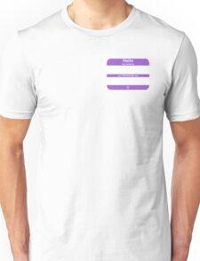 Hello, My PRONOUNS Are (Nonbinary Purple) Unisex T-Shirt