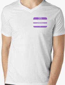 Hello, My PRONOUNS Are (Nonbinary Purple) Mens V-Neck T-Shirt