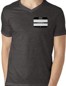 Hello, My PRONOUNS Are (Neutrois Black) Mens V-Neck T-Shirt