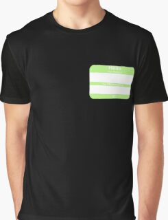 Hello, My PRONOUNS Are (Agender Chartreuse) Graphic T-Shirt