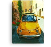 Yellow car Canvas Print