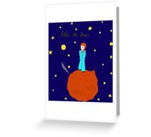 BOWIE LIFE ON MARS Greeting Card