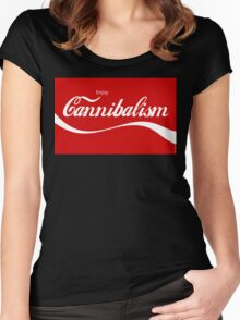Enjoy CANNIBALISM! Women's Fitted Scoop T-Shirt