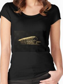 A digital painting of The Flying Scotsman  Women's Fitted Scoop T-Shirt