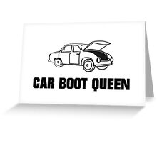 Car Boot Sale Queen Greeting Card