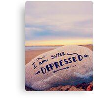 super depressed Canvas Print