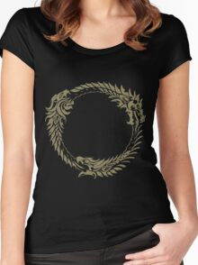 Elder Scrolls Online Logo Women's Fitted Scoop T-Shirt
