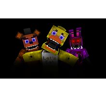 Five Nights At Freddy's - Minecraft Photographic Print