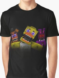 Five Nights At Freddy's - Minecraft Graphic T-Shirt