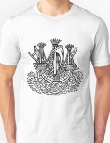 Stylised ship Unisex T-Shirt