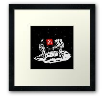 First we take Manhattan, Then we take Moon Framed Print