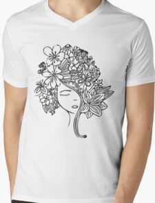 Flower Child Mens V-Neck T-Shirt